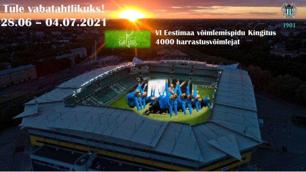 Kutse 6. Eestimaa võimlemispeo KINGITUS vabatahtlikele