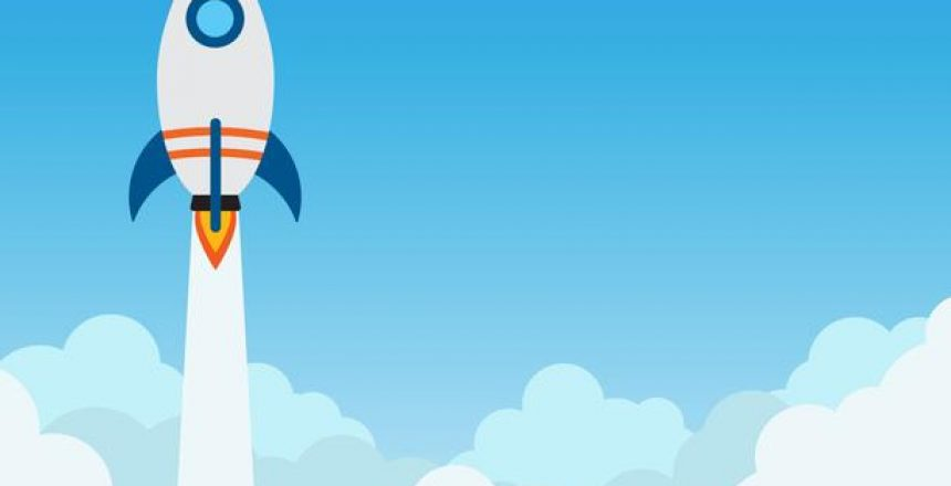 rocket-launch-flying-over-cloud-concept-of-business-start-up-banner-vector